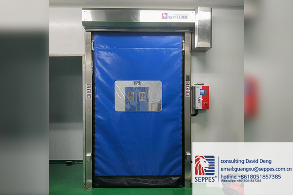 Contact-free switch fast speed door